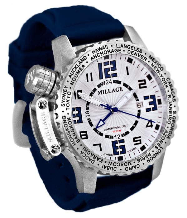 Millage MOSCOW Collection Watch W-BLU-BLU-SL