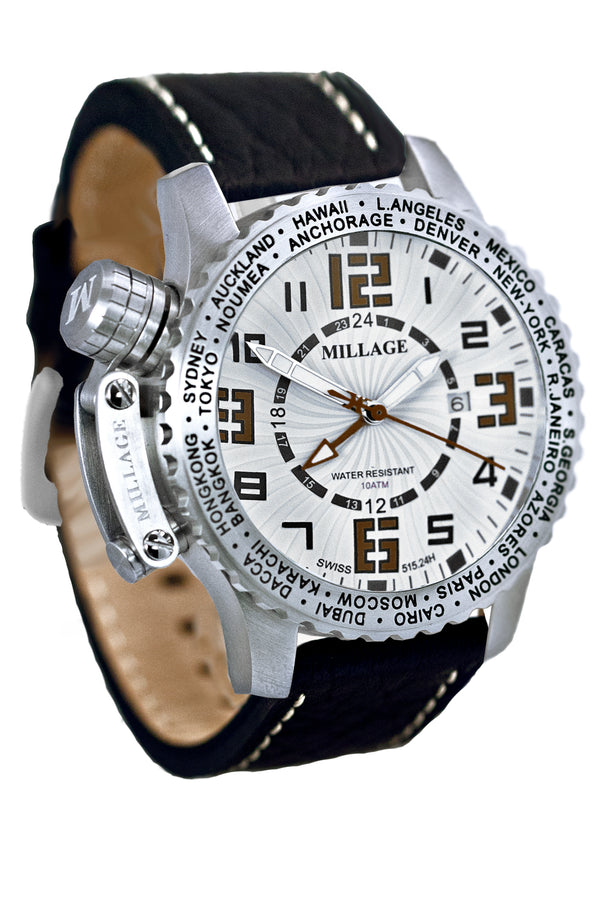 Millage MOSCOW Collection Watch W-BR-BLK-LB