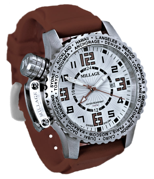 Millage MOSCOW Collection Watch W-BR-BR-SL