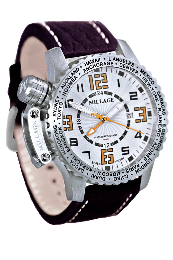 Millage MOSCOW Collection Watch W-OR-BR-LB