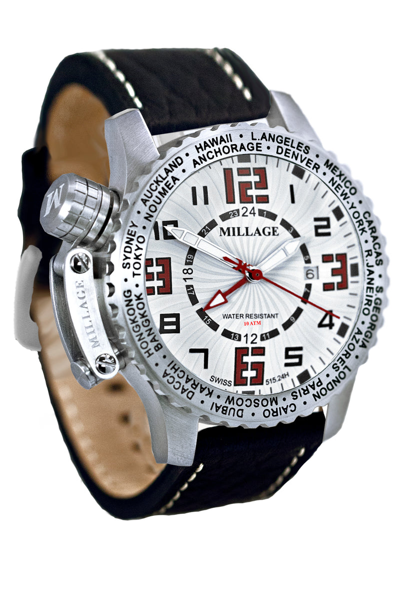 Millage MOSCOW Collection Watch W-RD-BLK-LB