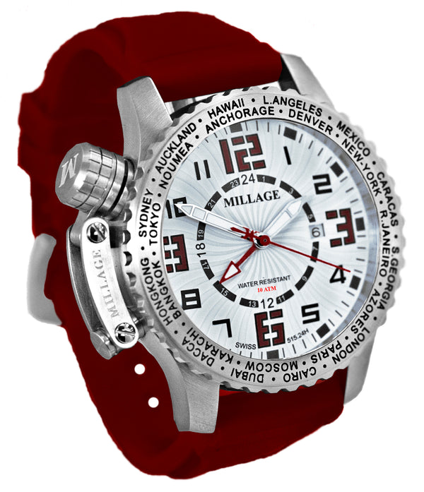 Millage MOSCOW Collection Watch W-RD-RD-SL