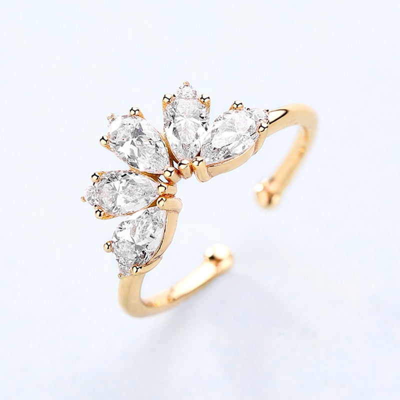 925 Sterling Silver Rings For Women 5A Zircon Diamond Gemstones Real Gold Plated Designer jewelry Stackable Rings