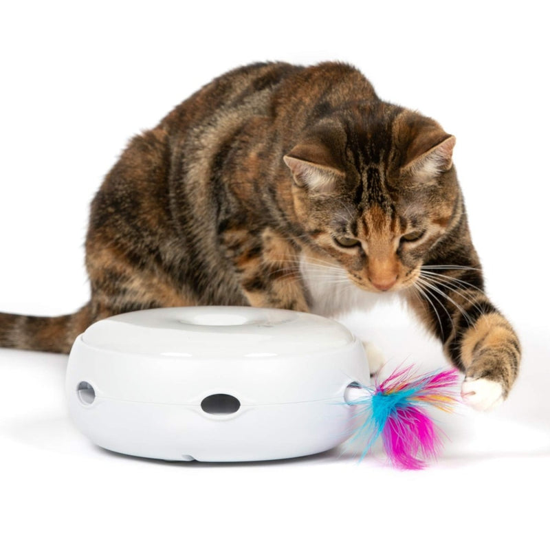 Electronic rot Cat Toy Smart Teasing Cat Stick Crazy Game Spinning Turntable Catch Mouse Donut Automatic Turntable Cat smart Toy