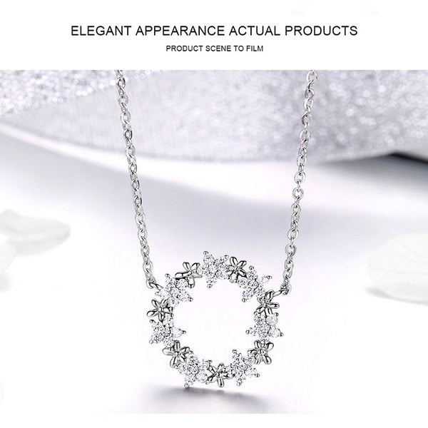 925 Sterling Silver Jewelry Sets Clear Cubic Zircon Shining Star Necklace Women Ring Jewelry Set Luxury Jewelry ZHS097
