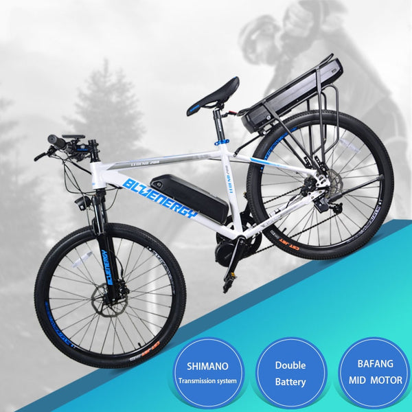 26inch electric bicycle 48V750w/1000W bafang mid-motor 48V 27.5ah double lithium battery electric mountain bike 850c LCD 60km/h