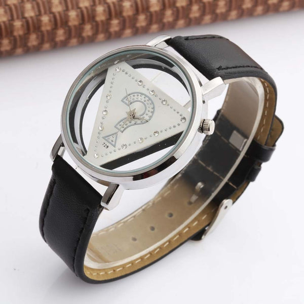 Fashion Womage Brand Trend Women Watches Ladies Triangle Rhinestone Transparent Quartz Casual Wristwatch Femme Relogio Feminino