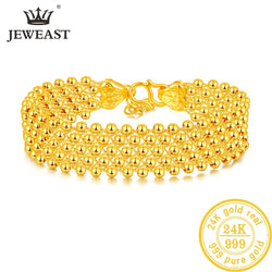 ZSFH 24K Pure Gold Bracelet Real 999 Solid Gold Bangle Upscale Beautiful  Romantic Trendy Classic Jewelry Hot Sell New 2019