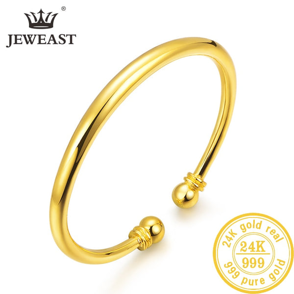 HMSS 24K Pure Gold Bracelet Real 999 Solid Gold Bangle Upscale Beautiful Romantic Trendy Classic Jewelry Hot Sell New 2019