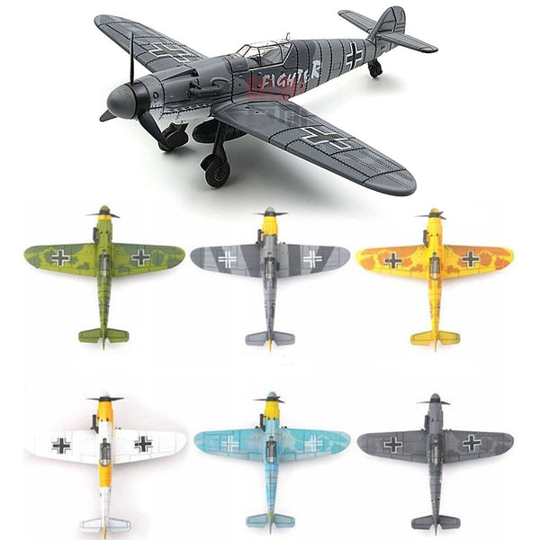 1PCS 1:48 World War II German Fighter Model B-109 4D Plastic Assemble Aircraft Military Building Model Toy For Children