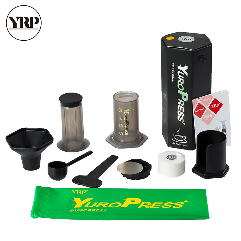 YRP YuroPress French Press Portable Espresso Coffee Maker machine Stainless steel Filter Coffee Drip Pot For Home Travel kitchen