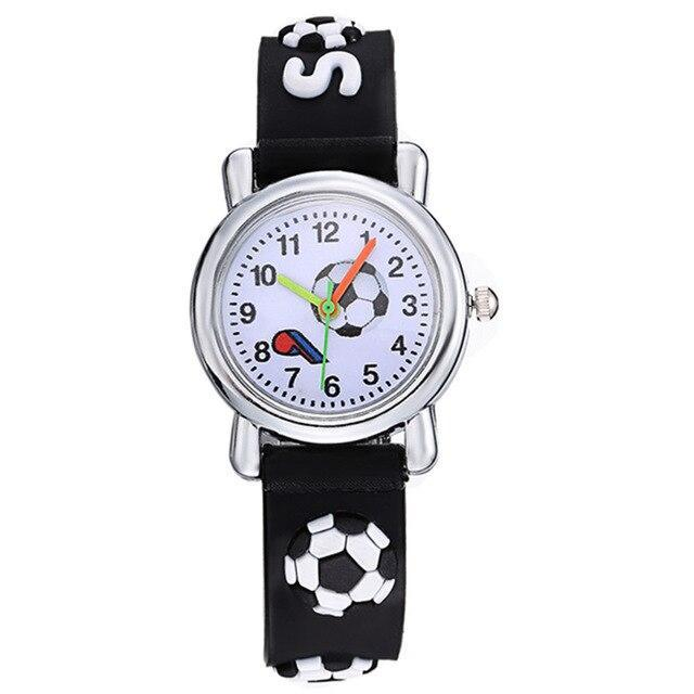 2020 New Fashion Kids Watch Baby Clock 3D Football Engraved Girls Boys Sports Wrist Watch Childen Quartz Silicone Relogio Enfant