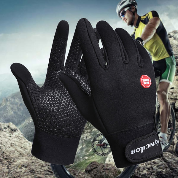 Kyncilor Guantes Mtb Bike Gloves Reflective Screen Touch Cycling Gloves Winter Men Bycicle Glove For Cold Winter Women Men Glove