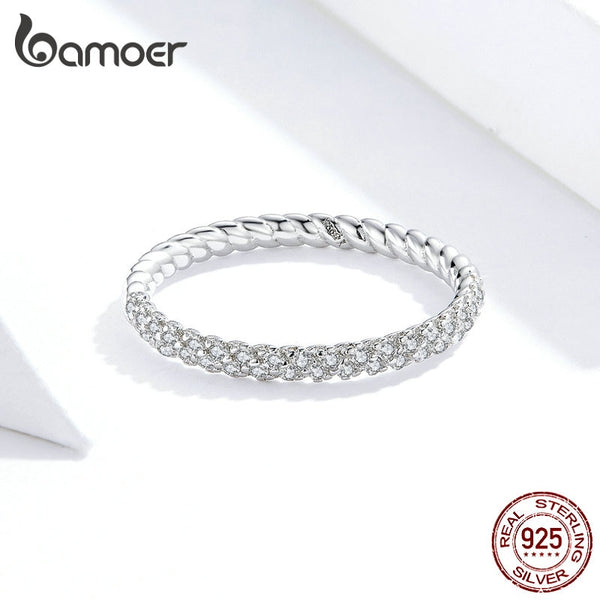 Wedding Engagement Jewelry Clear CZ 925 Sterling Silver Finger Rings for Women High Quality 2020 Luxury Anel SCR624
