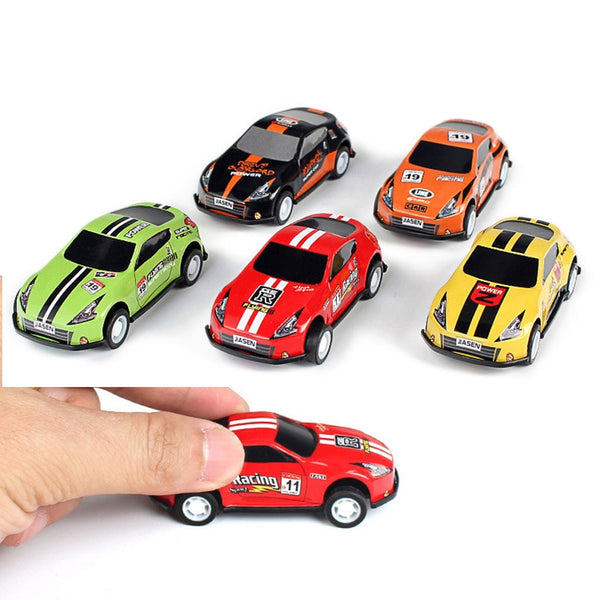 (Set Of 6) Mini Pull Back Car Toy Mold Alloy Cars Vehicles Cartoon Racing Children Pocket Toys Hot Model Nursery Gift Toys 2020