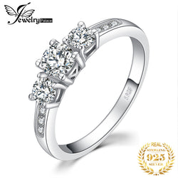 3 Stone CZ Engagement Ring 925 Sterling Silver Rings for Women Anniversary Ring Wedding Rings Silver 925 Jewelry
