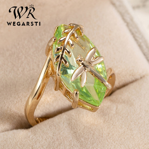 Silver 925 Jewelry Ring Oval Emerald Gemstone for Women Ring Jewelry Natural Luxury Ring Fine Jewelry Gift