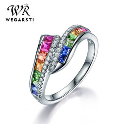 Silver 925 Jewelry Ring Trendy Luxury Gemstone Women Ring 925 Sterling Silver Rings Jewellery Weddings Party Gifts