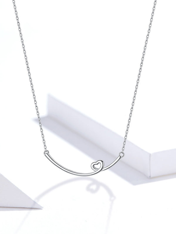 925 Sterling Silver Moon and Star Necklace for Women  Fashion Bijoux Wedding Statement Jewelry Gifts SCN382
