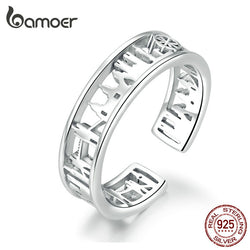 City Sketch Wide Finger Rings for Women Sterling Silver 925 Adjustable Rings Band Fine Jewelry Female Accessoires SCR606