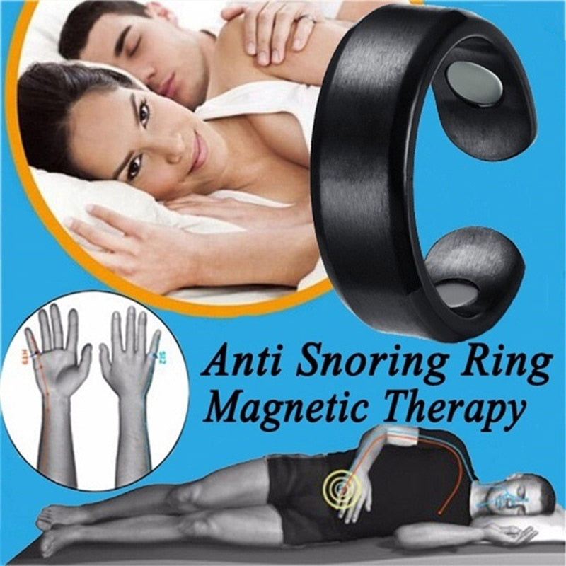 Acupressure Anti Snore Ring Magnetic Therapy Snore Stopper Acupressure Treatment Snoring Device Against Snoring Finger Ring