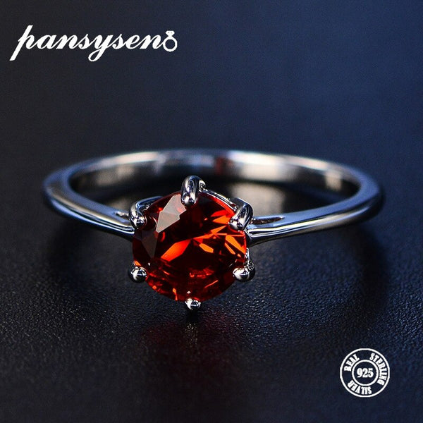 Ruby Gemstone Rings For Women 100% Genuine 925 Silver Party Engagement Birthday Fine Jewelry Ring Wholesale 8 colors