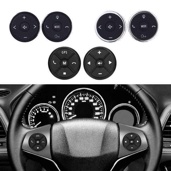Universal Car Steering Wheel Remote Control Panel 10 Keys Music Wireless DVD GPS Navigation Radio Buttons