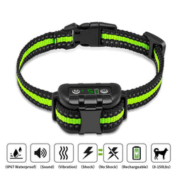 Anti bark dog collar Electric shock Vibration sound with LED for small to large dog no barking training collar dog supplies