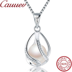 Natural freshwater  Pearl Jewelry Hot Selling 925 Sterling Silver Pendant Necklace gift For Women Female Jew