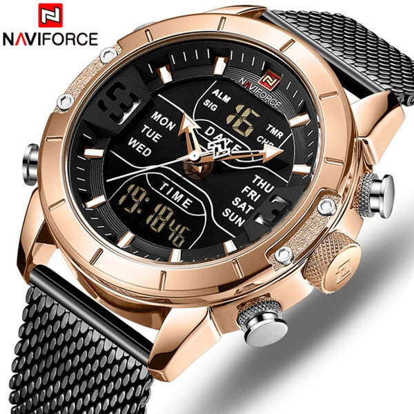 Men Watch Top Luxury Brand Fashion Casual Quartz Wrist Watches Men's Waterproof Military Army Sport LED Clock Relogio Masculino