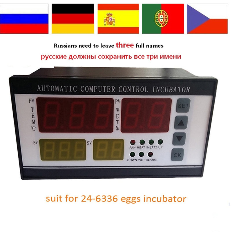XM-18 incubator Controller thermostat Full automatic and multifunction egg incubator control system for sale RU house