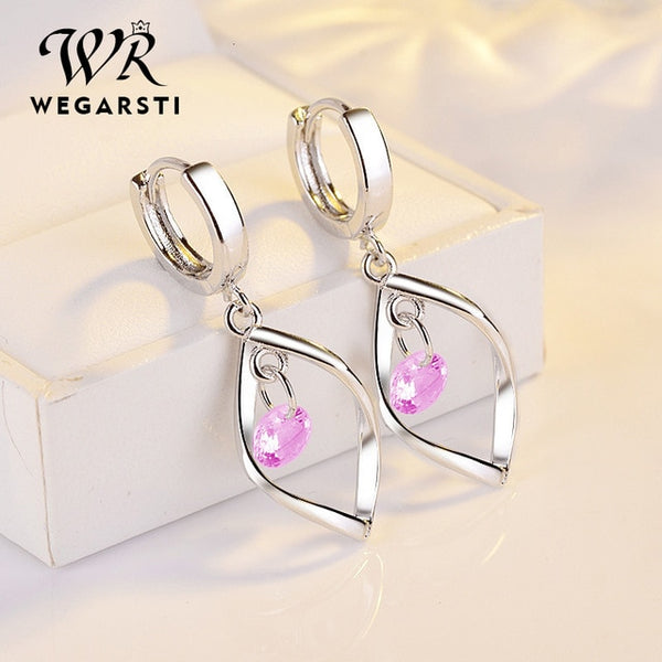 Silver 925 Jewelry Earrings 925 Sterling Silver Fashion Women Earrings Simple Style Jewelry Gift For Girls Wholesale