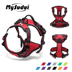 MySudui Truelove Large No Pull Dog Harness Reflective Collar And Harnesses Service Dog Belt German Shepherd Pit Bull Pet Shop
