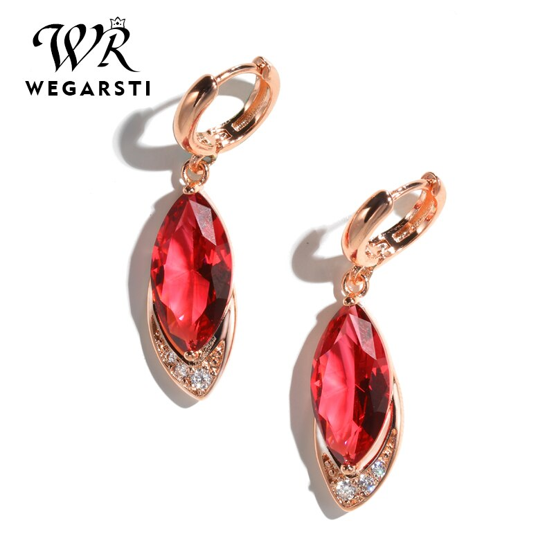New 925 Sterling silver Earrings Ruby Fine Jewelry Classic Vintage Earring Party Pomegranate Red Earrings