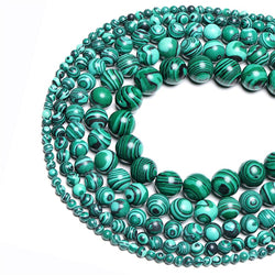 Natural Stone Malachite Peacock Beads 6mm 8mm 10mm 12mm GemStone Loose Beads For DIY Making Jewelry Women Bracelets