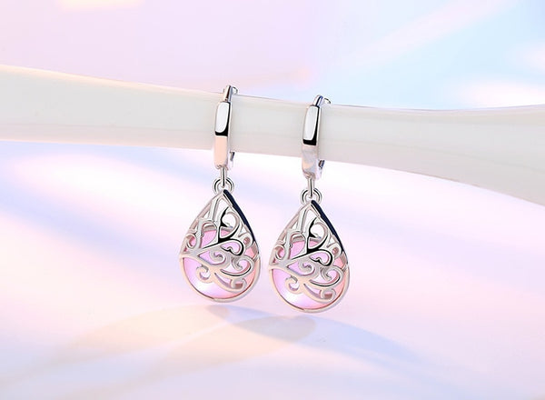 925 Sterling Silver Moonlight Opal Tears Totem Earrings Gift Pendientes Oorbellen Boucle D'oreille Femmes Wholesale