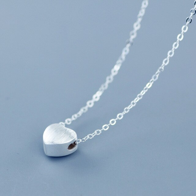 925 Sterling Silver Heat Charm Pendant Necklaces For Women New Fashion Jewely Small Chokers Necklaces Fine Jewelry