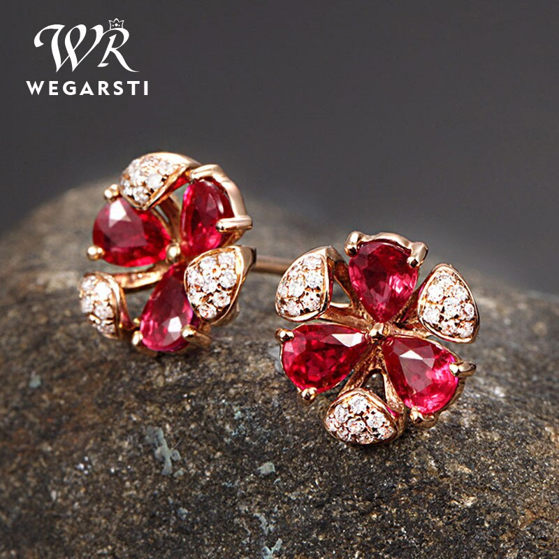 Luxury Female Crystal White Zircon Stud Earrings Simple 925 Sterling Silver Stud Earrings For Women Vintage Earrings