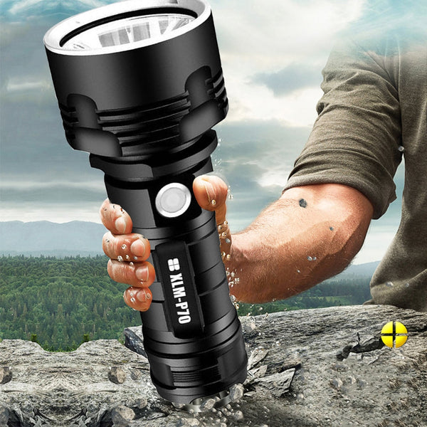 YB07 XHP70 Super Powerful LED Flashlight XM-L2 Tactical Torch USB Rechargeable Linterna Waterproof Lamp Ultra Bright Lantern