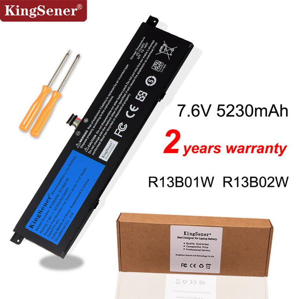 "Kingsener 7.6V 5230mAh New R13B01W R13B02W Laptop Battery For Xiaomi Mi Air 13.3"" Series Tablet PC 39WH"