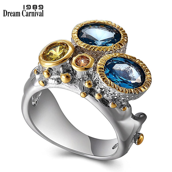 DreamCarnival 1989 Infinity Colors Series Women Ring Jaw Design 2019 Summer Gorgeous Shiny Cubic Zirconia Jewelry Hot WA11644