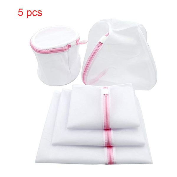 5pcs/lot Washing Laundry bag Clothing Care Foldable Protection Net Filter Underwear Bra Socks Underwear Washing Machine Clothes