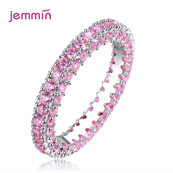 New Design Clear Crystal Big Stone 925 Sterling Silver Women Rings Christmas Gifts Cubic Zircon Jewelry Gift High Quality