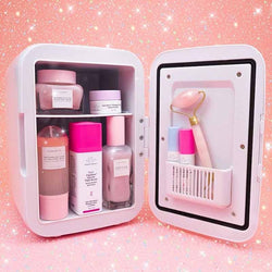 cosmetic cooler mishell cosmetic refrigerator cooluli mini fridge 4 liter skincare fridge uk	makeup fridge skin care routine