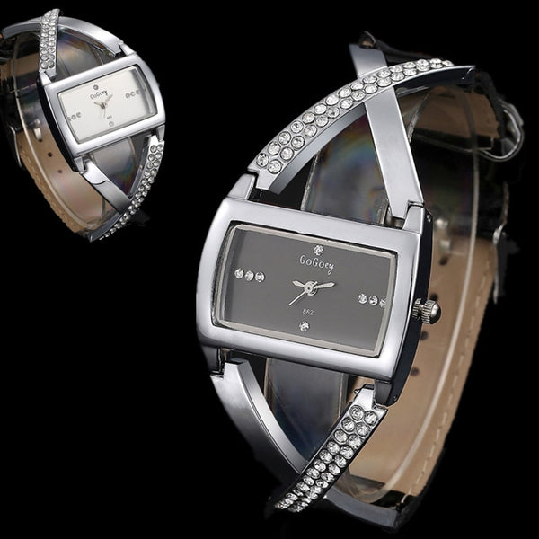 Gogoey Women's Watches Luxury Rhinestone Bracelet Watch Women Watches Fashion Ladies Watch Clock montre femme zegarek damski