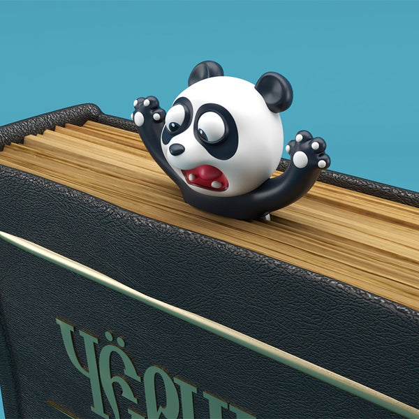 Creative 3D Bookmark Funny Animal Bookmarks Cute Cat Dog Panda Book Marker as Gift Stationery