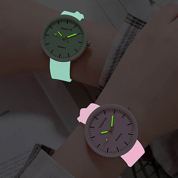 Wholesale Watches Quartz Women Children Creative Luminous Silicone Brand Lovers Romantic Gifts Clock Relogio Feminino Top Sell