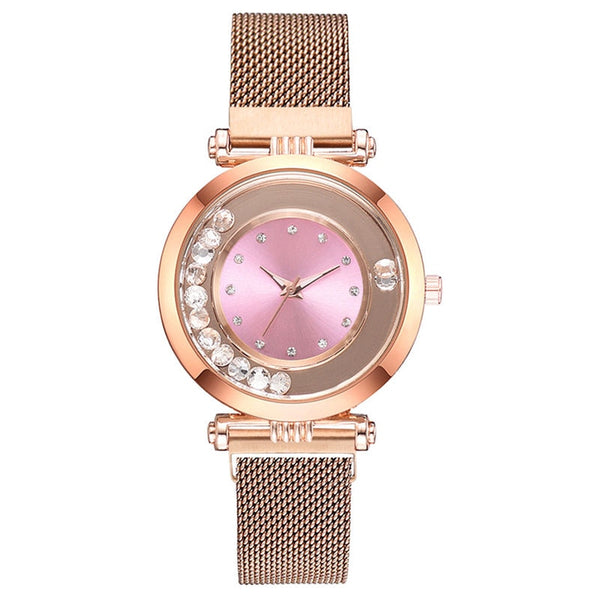 Luxury fashion dazzling diamond Women Magnet Buckle Rhinestone Watch Ladies Stainless Steel Quartz Watch Relogio Feminino