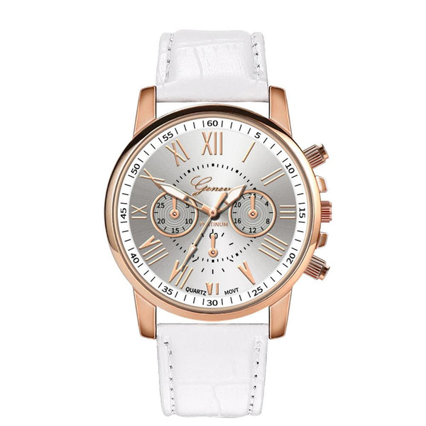 New Fashion Women Leather Band Quartz Analog Wrist Watch Women's Watches Brand Luxury Fashion  #4D27