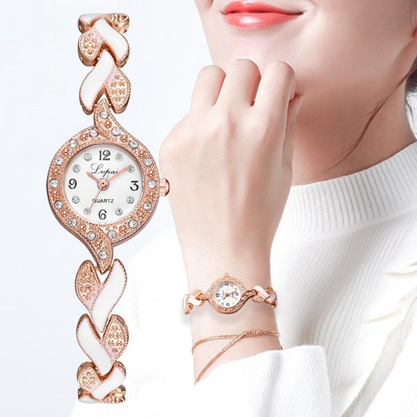 Lvpai Brand New Bracelet Watches Women Luxury Crystal Dress Wristwatches Clock Women's Fashion Casual Quartz Watch Reloj Mujer